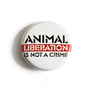Animal Liberation is Not a Crime - Button
