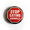 Stop Eating Animals - Button