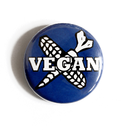 Vegan Cross - Button
