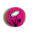 Vegan Flower - pink - Button