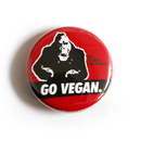 GO VEGAN (King Kong) - Button