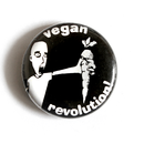 Vegan Revolution! (Möhre) - Button