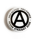 Vegan Straight Edge - Button