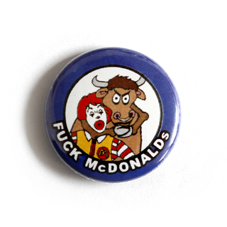 Fuck McDonalds - Button