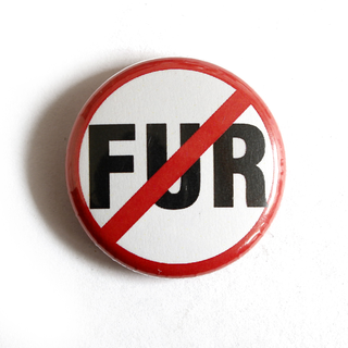 No Fur! - Button