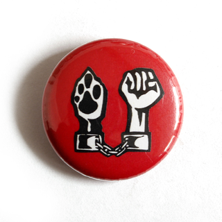 Chained Paw/Fist - Button