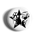Star Paw Fist - Button