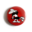 Rabbit (with carrot-red) - Button