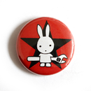 Rabbit with Wrench (rot) -- Button