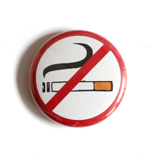 No Smoking - Button