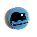 Maus (blau) - Button