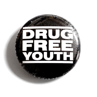 Drug Free Youth - Button