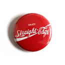 Straight Edge Soda 1 - Button