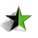 Star, black-green - Pin