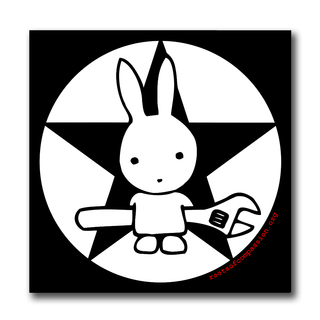 Bunny with Wrench - Aufkleber