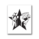 Paw Fist Star - Patch on durable Bio Canvas