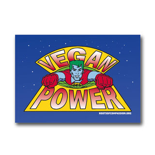 Vegan Power - Aufkleber