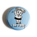 I am a Boy - Button