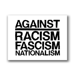 Against Racism, Fascism, Nationalism - Patch on durable Bio Canvas