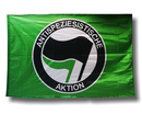 Flag Antispeziesistische Aktion - green