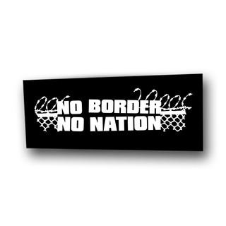 No Border No Nation (schwarz) - Aufnäher