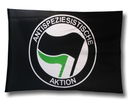 Flag Antispeziesistische Aktion - black