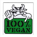 100% Vegan - Fridge Magnet