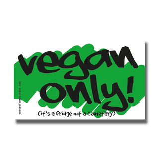 vegan only! - Magnet (green-white)