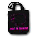 SALE! Meat is Murder! - Bag - Black