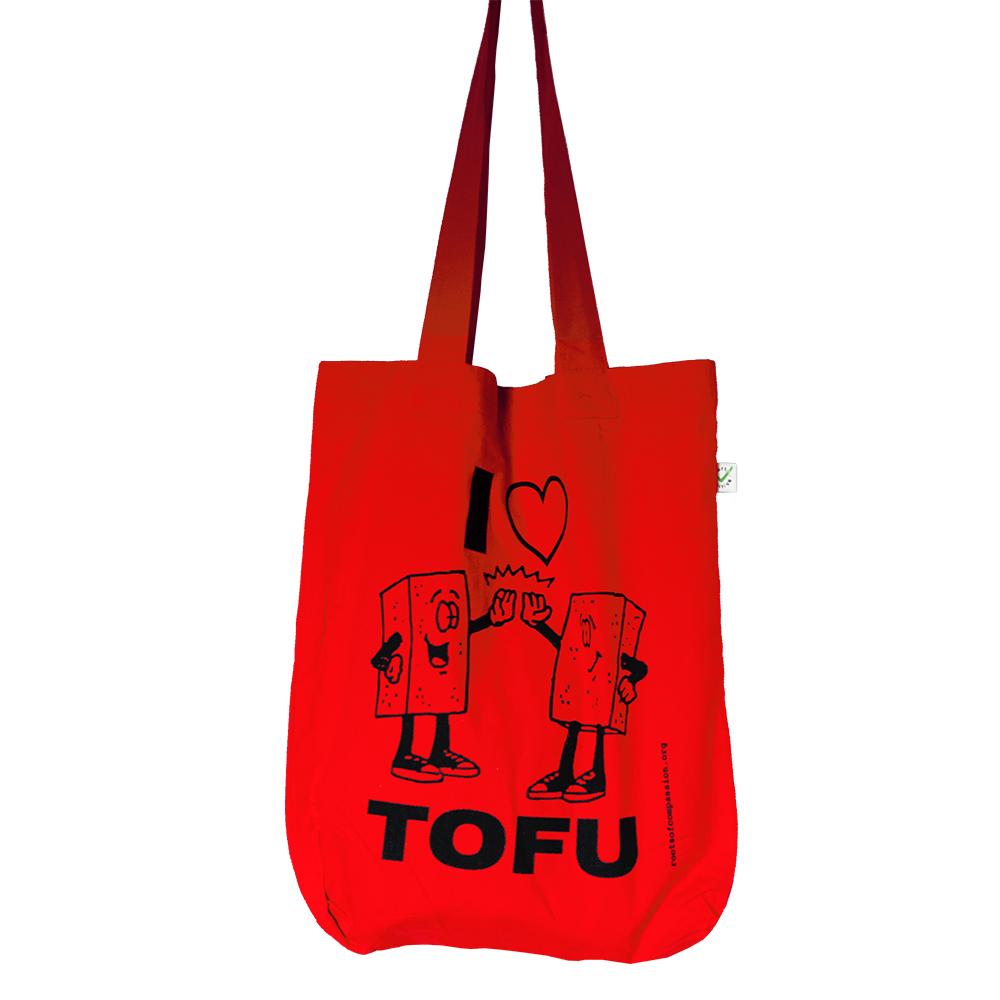 I Heart Tofu Einkaufsbeutel Tasche Bio Fair Trade