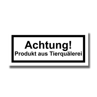 Warnhinweis - Sticker (10x)