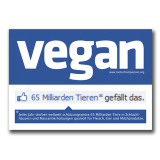 Vegan social network  - Sticker (10x - German)