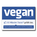 Vegan social network - Sticker (10x - deutsch)