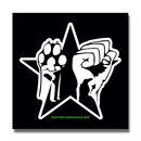Paw Fist Star - black - Sticker