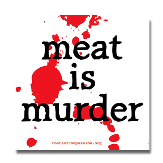 Meat is Murder - Aufkleber