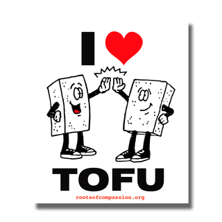 I heart tofu - Sticker