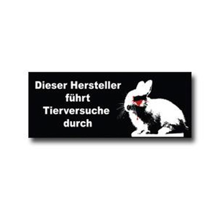 actionsticker animal testing - german - Sticker (10x)
