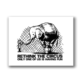 Rethink the Circus - Patch on durable Bio Canvas