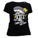 SALE! Cars kill, ride a bike! T-shirt - small/waisted cut...