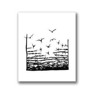 Freedom (black) - Patch on durable Bio Canvas