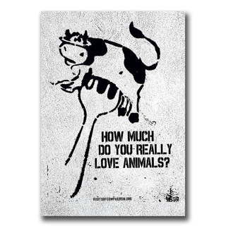 How much do you really love animals? - Sticker (10x)