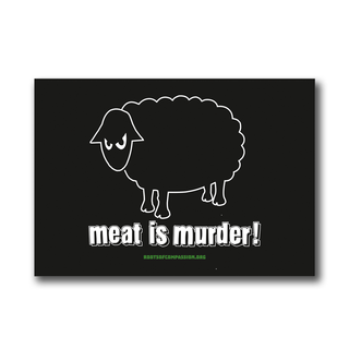 Meat is Murder (sheep) - Sticker