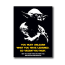 Vegan Yoda - Sticker