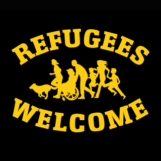 Refugees Welcome - Benefit T-shirt - large/loose cut