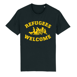 SALE! Refugees Welcome - Benefit T-shirt - large/loose cut (discontinued model)