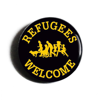 Refugees Welcome - Benefit-Button
