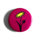 Vegan Flower (pink) - Fridge Magnet