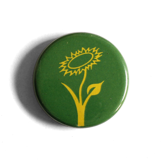 Vegan Flower (green) - Fridge Magnet