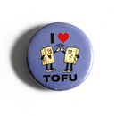 I Heart Tofu - Fridge Magnet (round)
