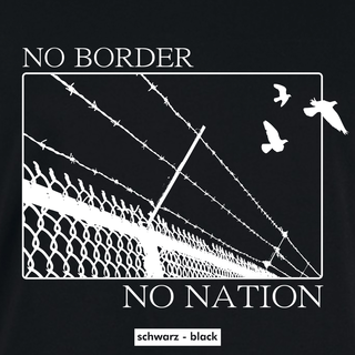 No Border - T-Shirt - large/loose cut